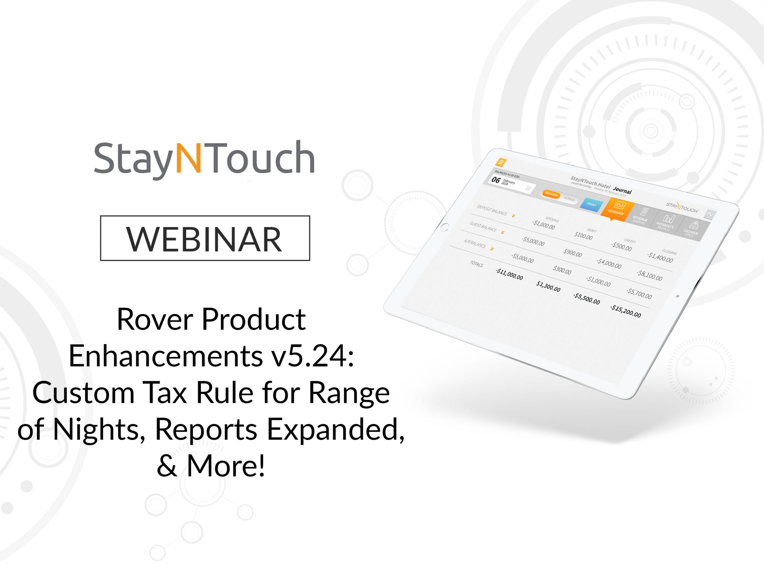 Rover Product Enhancements v5.24: Custom Tax Rule for Range of Nights, Reports Expanded, & More!