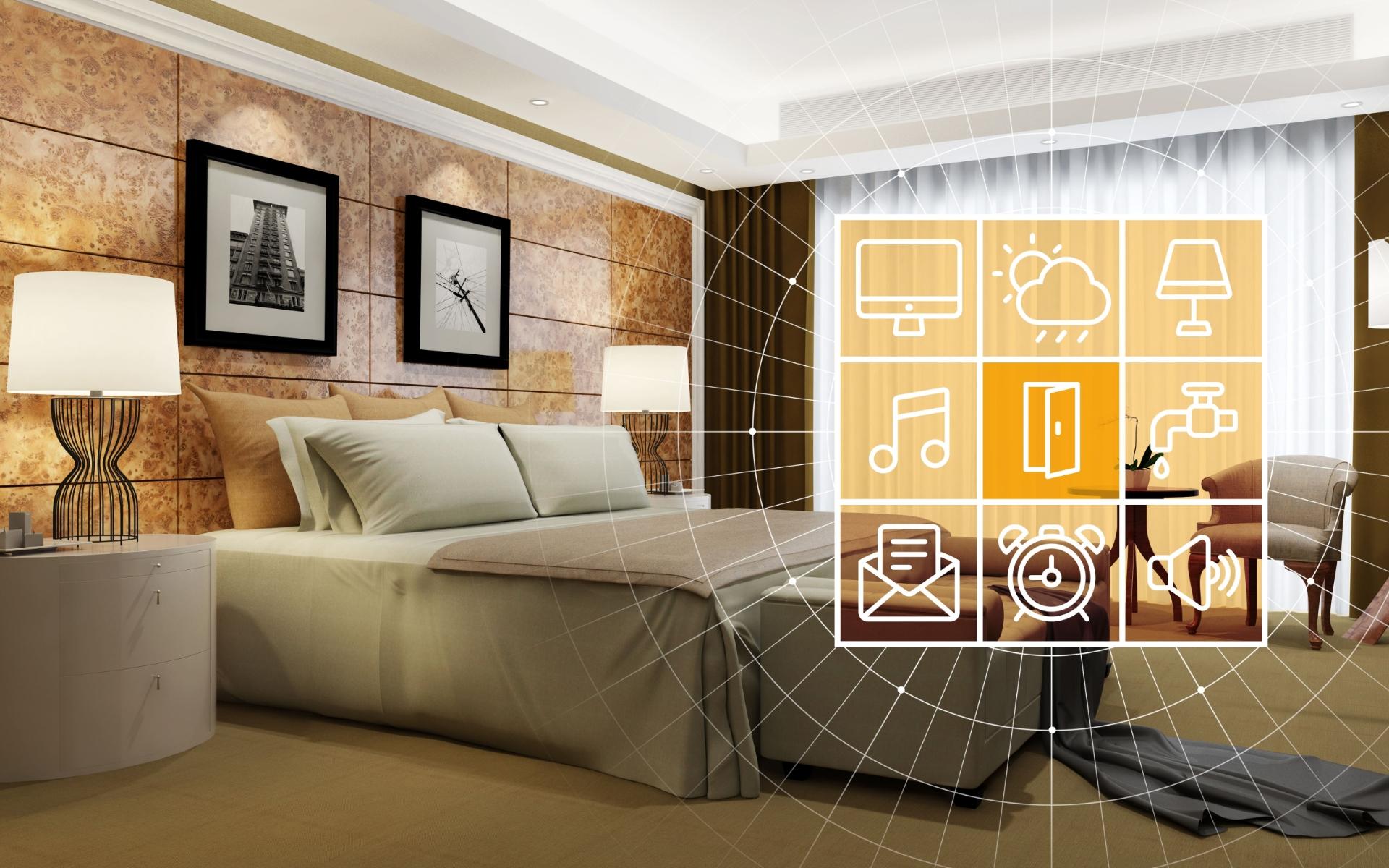 Hotel technoloty inside room experience